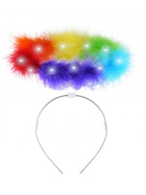 Light Up Pride Angel Halo Headband