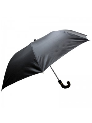 Men's J Handle Compact Umbrella - Black