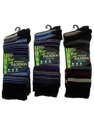 Men's Premium Bamboo Socks - Assorted Designs & Colours