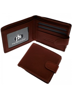 Men's RFID Leather Wallet 3 Card Slots - Cognac Alva Brown