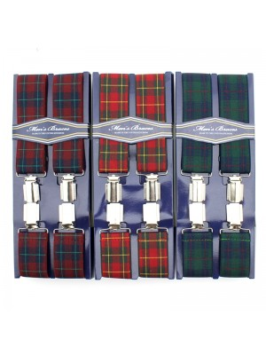 Men's Braces - Tartan Design (35mm) - Assorted