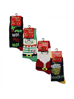 Men's Christmas Design Socks (1 Pair Pack) - Asst