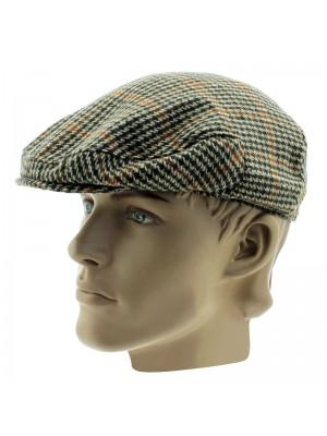 Men's Classic Tweed Design Flat Cap - Assorted Sizes