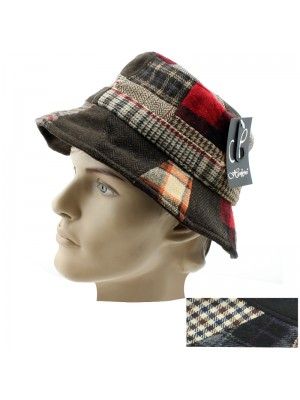 Men's Patchwork Bucket Hat - Assorted Colours