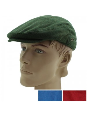 Men's Plain Wool Country Flat Cap - Assorted Colours