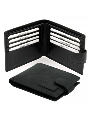 Men's Woodbridge Black Leather Wallet