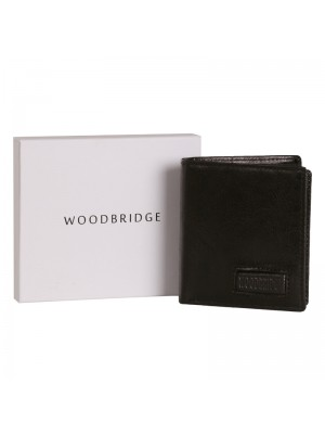 Men's Woodbridge Distressed Leather Wallet - Black