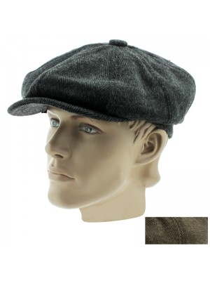 Men's Wool Flat Caps - Assorted Colours & Sizes
