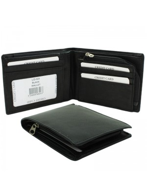 Men's Woodbridge RFID Genuine Leather Wallet - Black/Black