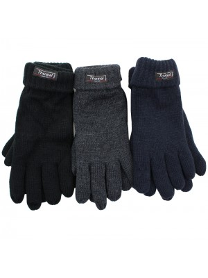 Mens Knitted 3M Thinsulate Insulation Gloves - Assorted Colours