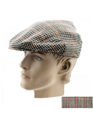 Mens Tweed Design Flat Cap - Assorted Colours & Sizes