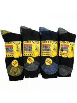 Mens Ultimate Work Cushioned Socks - Assorted Colours