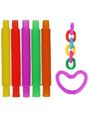 Sensory Stretch Small Tube Stress Relief Fidget Toy - Assorted (15cm)
