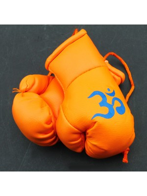 "Mini Boxing Gloves - Orange ""Om"" Gloves"