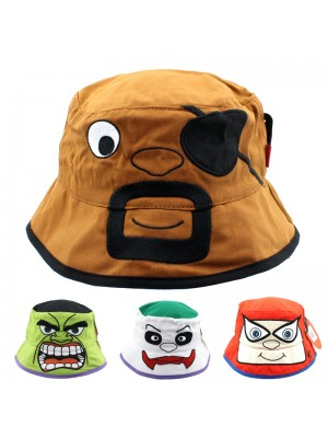 Novelty Bucket Hat With Animated Faces - Assorted Designs