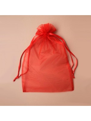 Organza Gift Bag - Red (21x30cm)