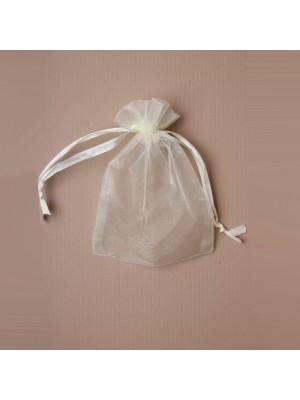 Organza Gift Bag - Ivory (11x15cm)
