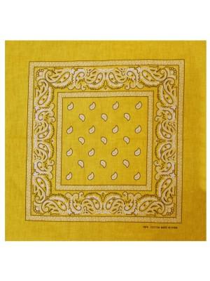 Paisley Bandana - Yellow