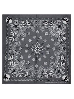 Paisley Print Bandana - Skulls Design