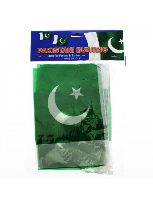 """Pakistan Bunting Flags 12Ft  9""""x6"""""""