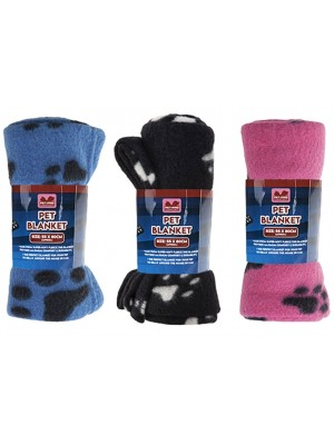 Pet Blankets In Assorted Colours - 55cm x 80cm