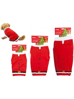 Pet Santa Suits In Assorted Sizes