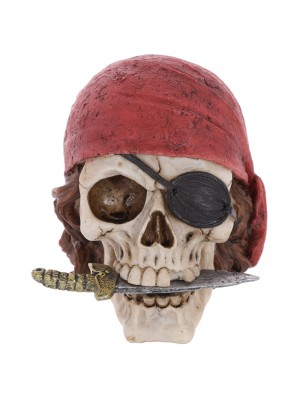 Pirate Skull with Head Scarf and Knife