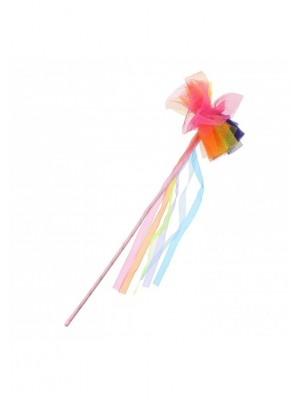 Rainbow Fairy Wand with Hanging Ribbon