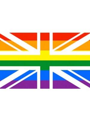 Union Jack Rainbow Flag - 5ft x 3ft