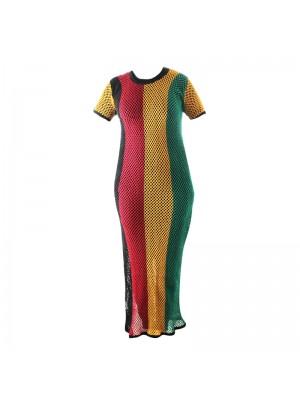 Rasta Mesh String Dress - Assorted Sizes