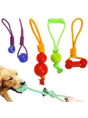 Pet Rope Teether Tug Toys - Assorted