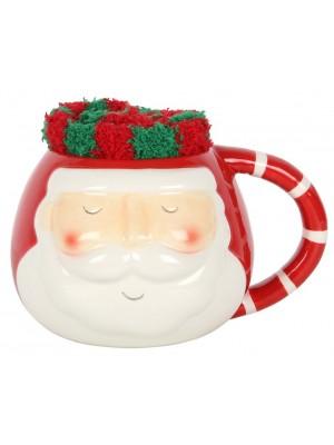 Santa Ceramic Mug And Socks Set