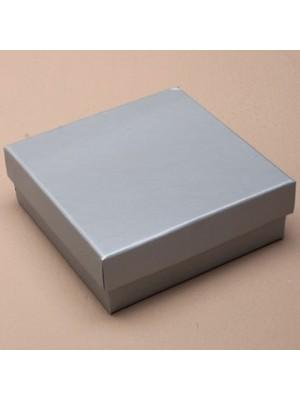 Square Gift Box (Silver) (9cm x 9cm x 3cm)