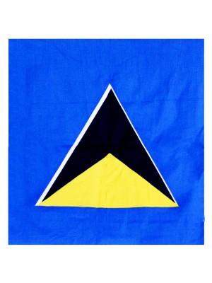 St Lucia Flag  Bandana