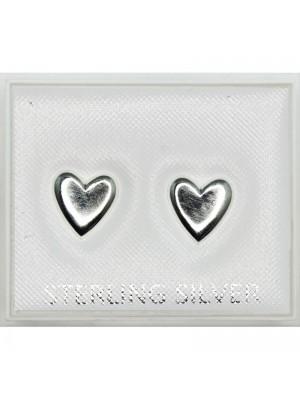 Sterling Silver Heart Design Studs - 7mm