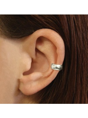 Sterling Silver Plain Rounded Band Ear Cuff