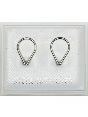 Sterling Silver Ring Studs - 9mm