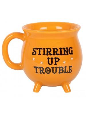 Stirring Up Trouble Cauldron Mug - Orange
