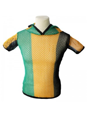 String T-Shirts With Hood - Jamaica Colours (Assorted Sizes)