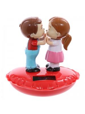 Sweetheart Couple Kissing on a Heart Solar Pal