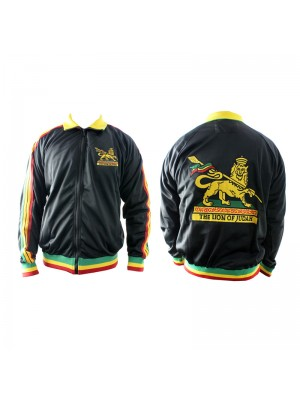 """The Lion Of Judah"" Rasta Themed Jacket - Black (Assorted Sizes)"