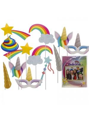 Unicorn Party Photo Accessories (12pcs)