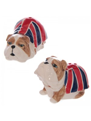 Salt & Pepper Cruet Set Union Jack British Bulldog