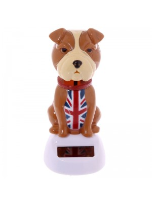 Union Jack Nodding Bulldog Solar Pal