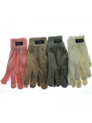 Ladies Thinsulate Knitted Gloves - Light Assorted Colours