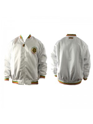Unisex Lion Print Rasta Design Jacket - White (Assorted Sizes)