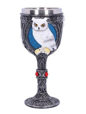 Wise Companion White Owl Goblet - 19.8cm