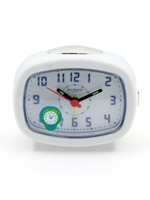 WM. Widdop Alarm Clock (LED Light) - White