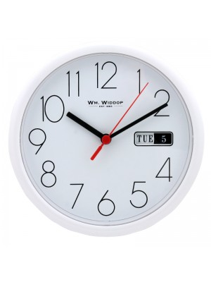WM. Widdop Wall Clock - White