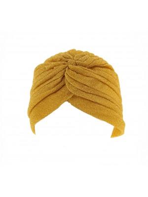 Ladies Gold Glitter Turbans